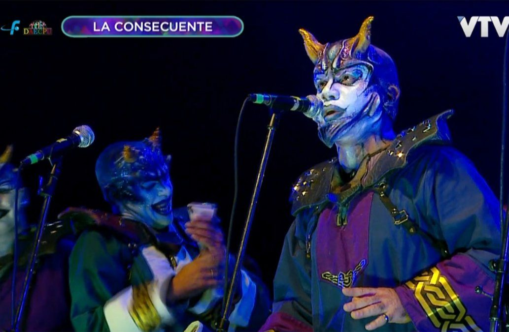 La Consecuente volvió a homenajear a Diablos Verdes en el Teatro de Verano