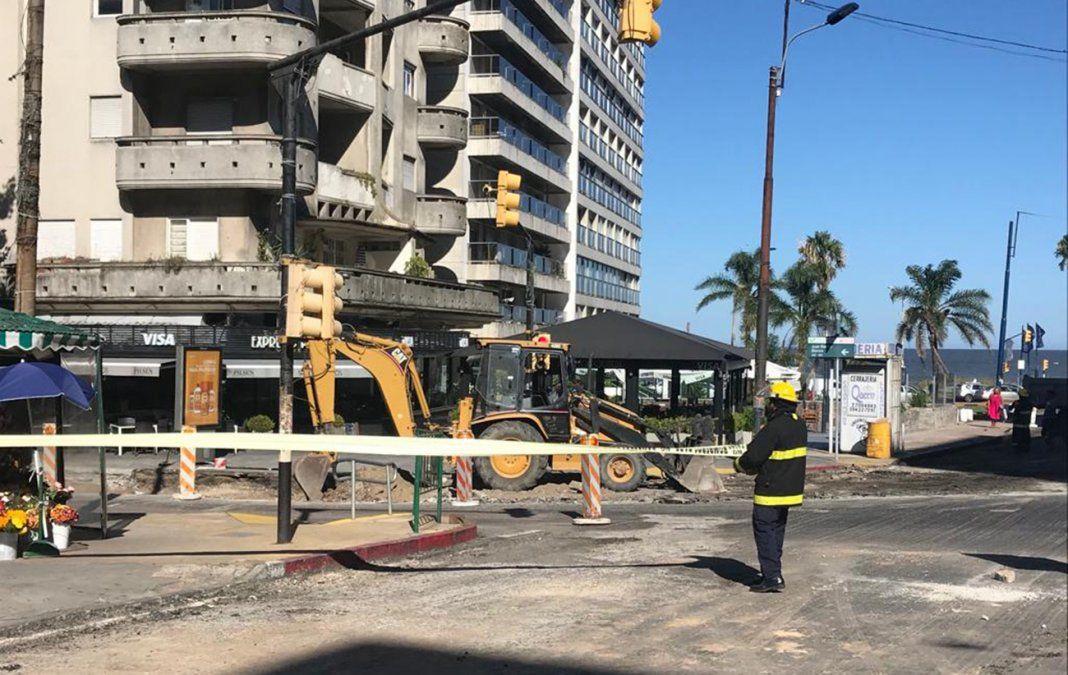 Rompieron un caño de gas en Pocitos y los Bomberos evacuaron la zona