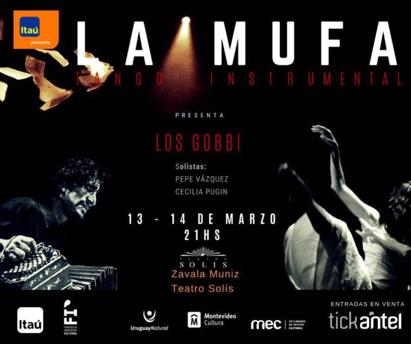 La Mufa, tango instrumental, presenta  Los Gobbi en el Teatro Solís
