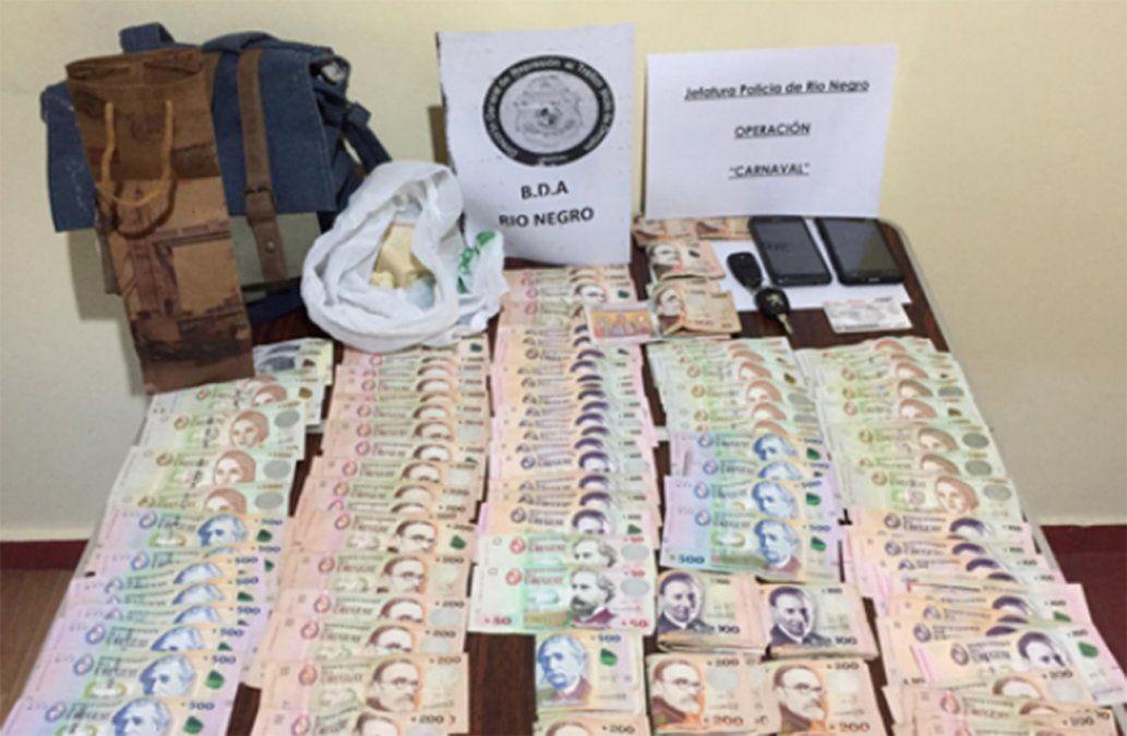 Dos personas detenidas por transportar drogas desde Montevideo a Fray Bentos