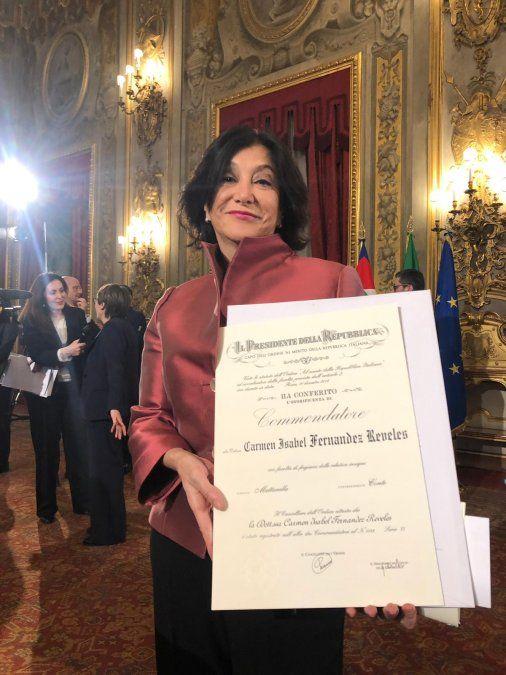 Psicóloga rochense recibió reconocimiento del presidente de Italia