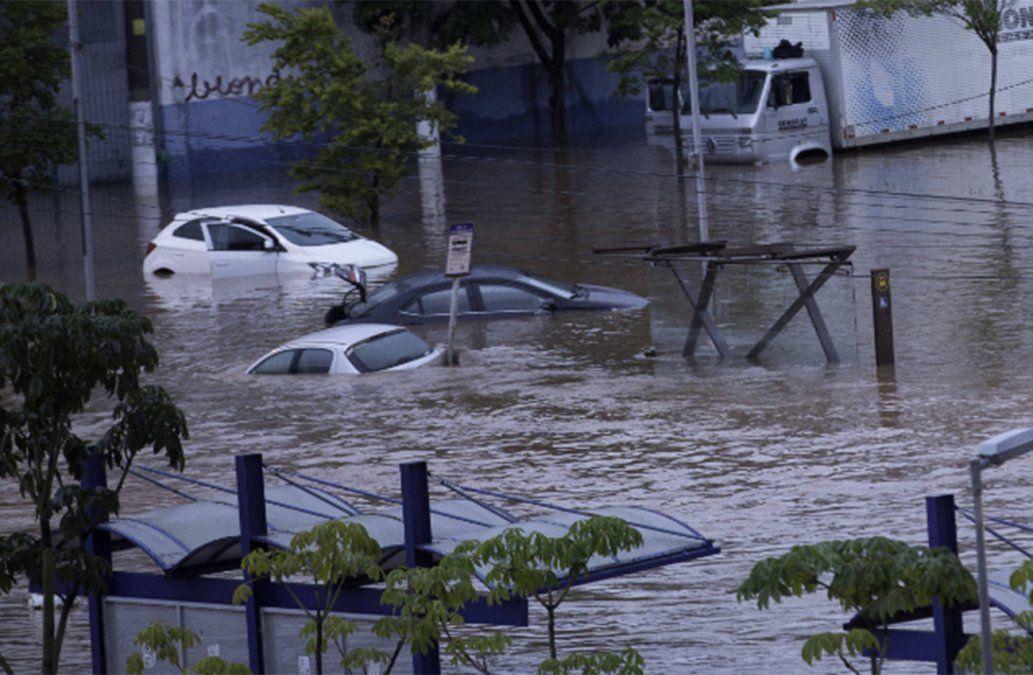 Siete muertos por fuerte temporal en Sao Paulo