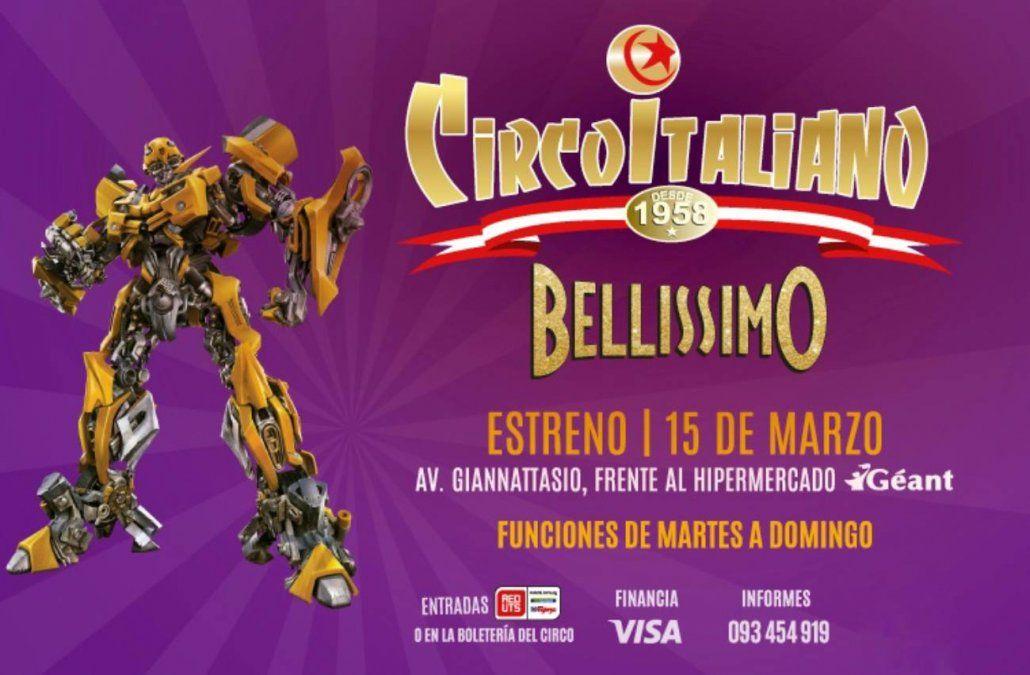 El Circo italiano  presenta su espectáculo en Montevideo