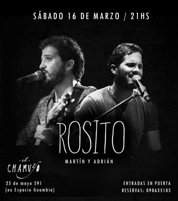 Los hermanos Rosito se reúnen en concierto en Montevideo luego de 2 años