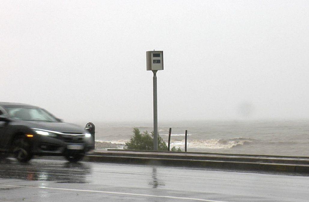 Intendencia trasladó radar de control de velocidad a la rambla y Pereira de la Luz