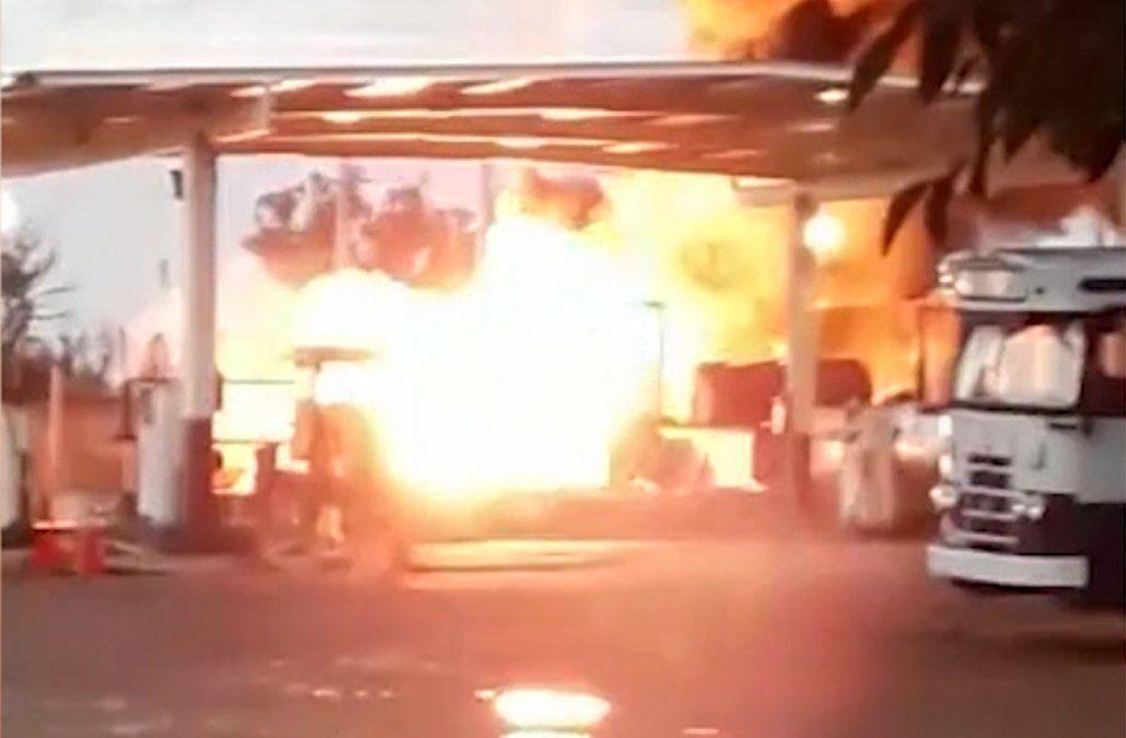 Explosión e incendio provocó caos en Maldonado