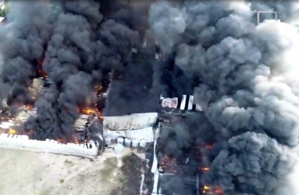 Incendio en fábrica de plástico: carecía de habilitación de Bomberos