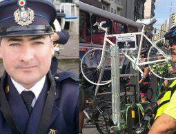 Ciclistas marcharon este sábado por la muerte del policía John Patrick