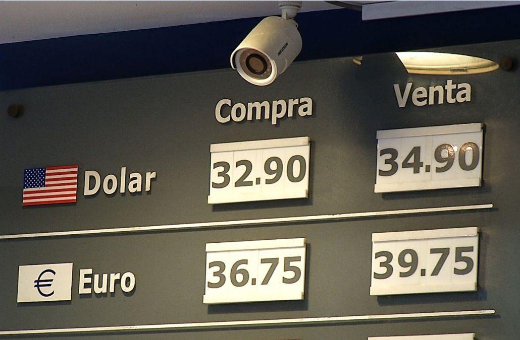 El dólar volvió a subir y se acercó a los 35 pesos tras fuerte alza en Argentina