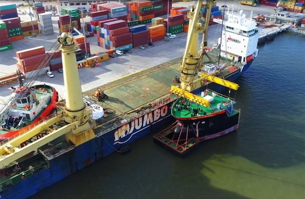 Nueva draga de la Administración Nacional de Puertos costó U$S 60 millones