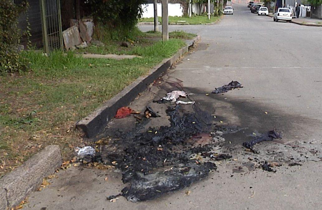 Investigan homicidio en Cerrito de la Victoria: le dispararon y luego lo prendieron fuego