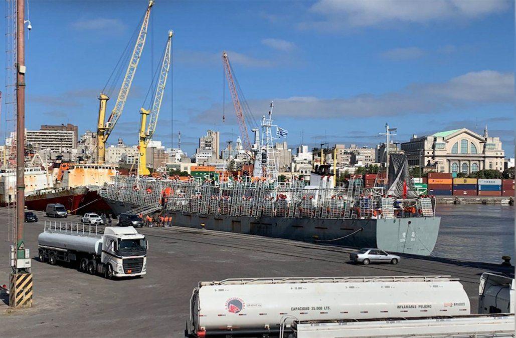 Bajan otro tripulante muerto de un pesquero extranjero en el puerto de Montevideo