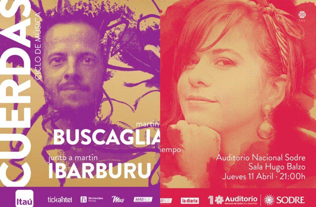 Ciclo de cuerdas presenta shows de Carmen Pi y Buscaglia & Ibarburu