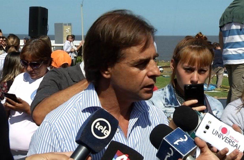 Lacalle Pou reclama que Vázquez se haga cargo y cese a Miguel Toma