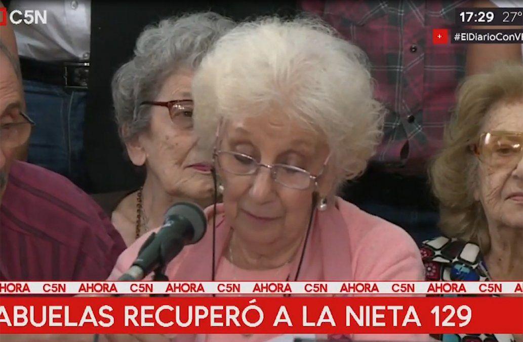 Abuelas de Plaza de Mayo anunció la recuperación de la nieta 129