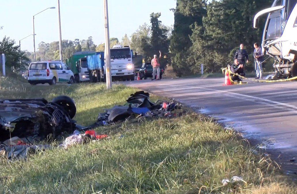 Un hombre murió tras chocar de frente contra un ómnibus en ruta 3