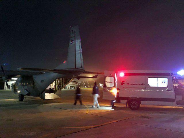 Un paciente con pancreatitis aguda fue trasladado por la Fuerza Aérea desde Florianópolis