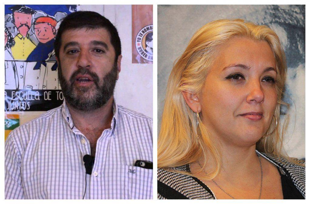 Fernando Pereira y Valeria Ripoll representan a dos corrientes enfrentadas dentro del PIT-CNT
