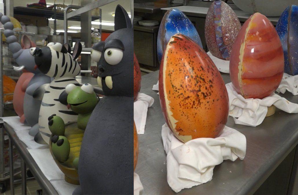 Reposteros del Hotel Enjoy elaboran huevos de Pascua muy originales