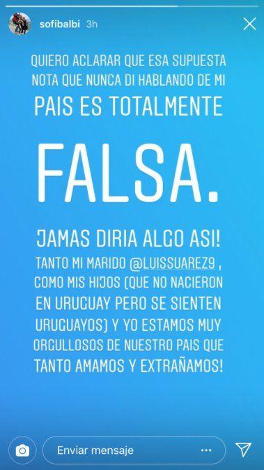 La esposa de Luis Súarez, víctima de noticias falsas