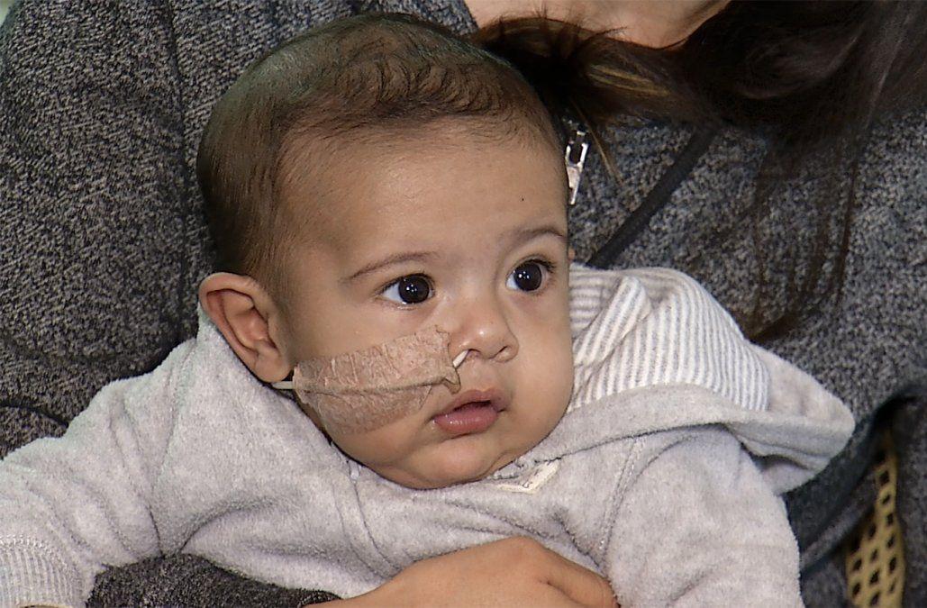Andrés tiene 5 meses, padece una cardiopatía y necesita US$ 230.000 para operarse en EE.UU.