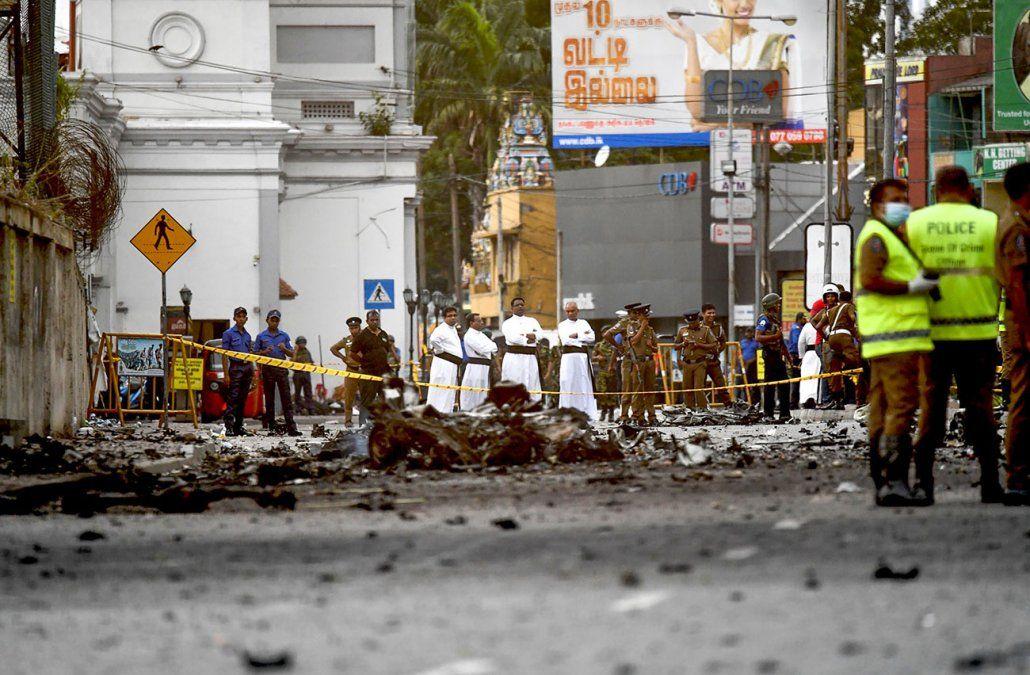 Explosión en las calles de Colombo durante el domingo de pascuas