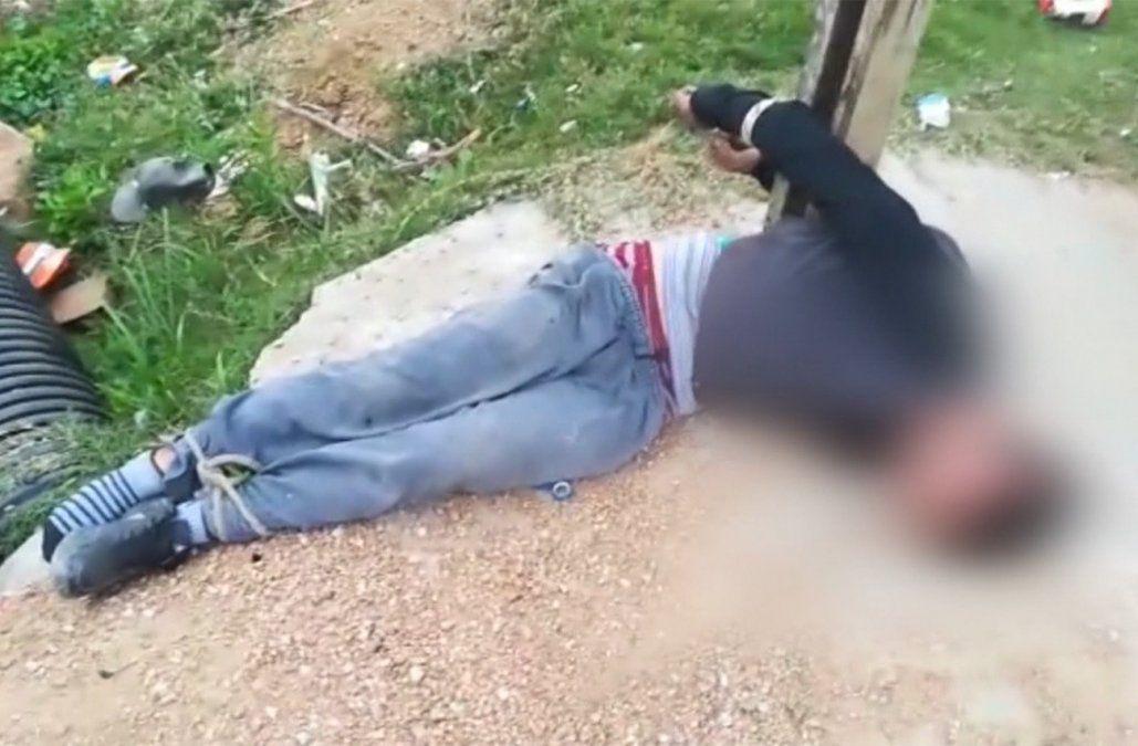 Familiares de presunto delincuente atado a un poste denunciaron a vecinos que lo arrestaron