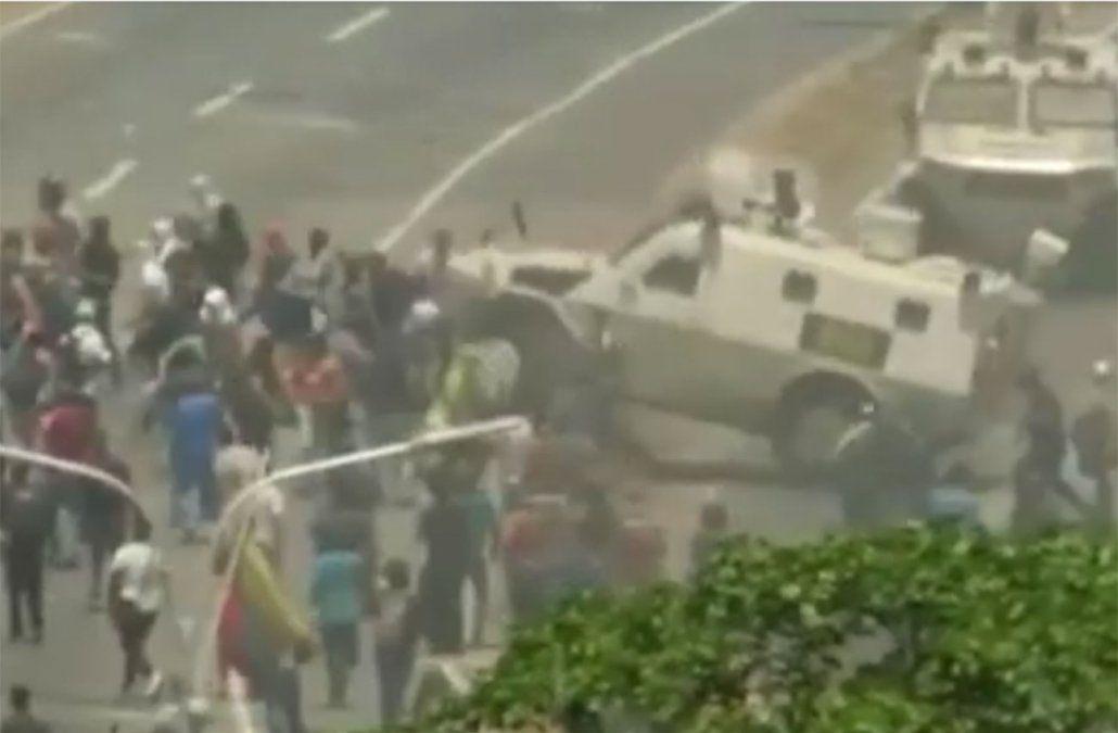 Foto: Captura de pantalla de video transmitido por medios de comunicación.