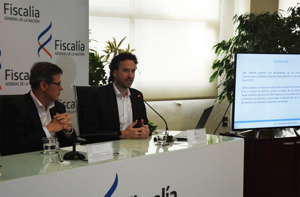 Fiscal General Jorge Díaz y politólogo Diego Gonnet. (Fiscalía).