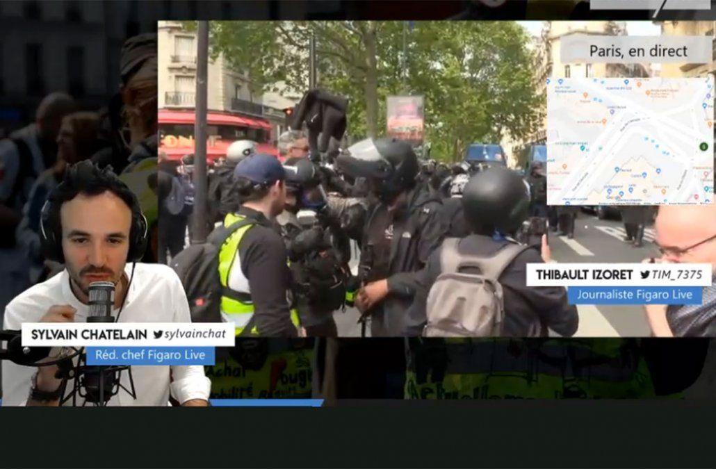 Le Figaro trasmite en directo los hechos.