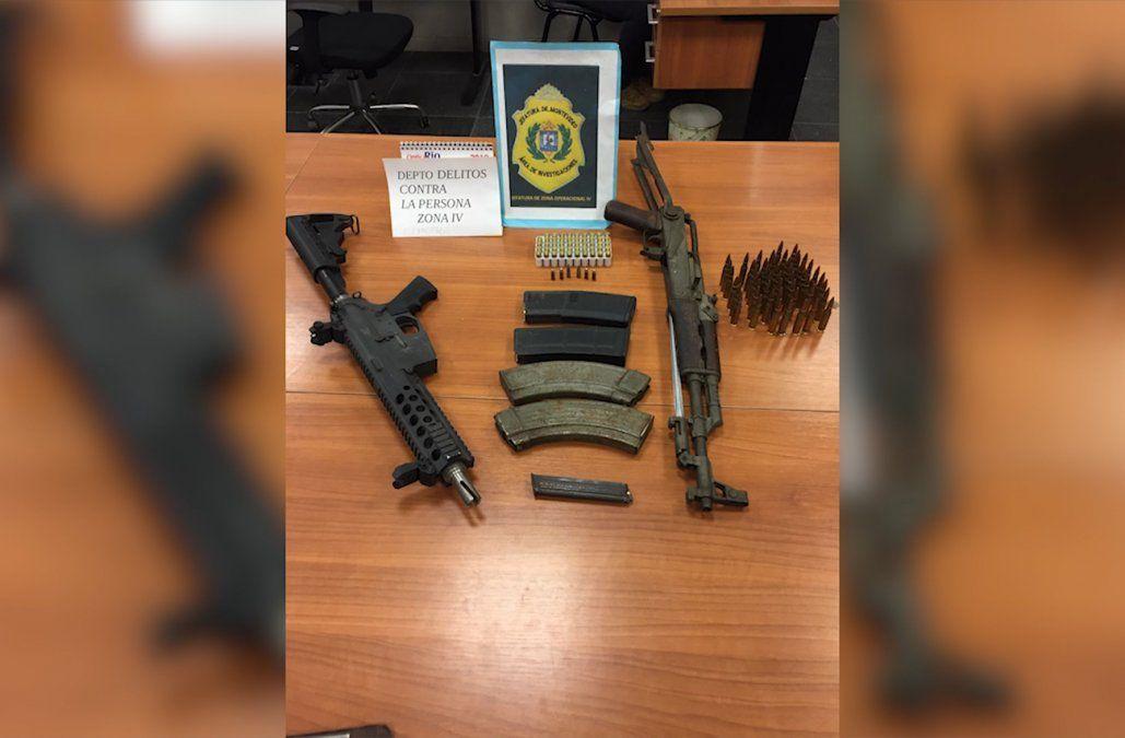 Encontraron dos armas de guerra y municiones en una casa de barrio Maracaná