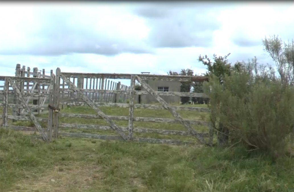 Establecimiento rural donde ocurrió el homicidio