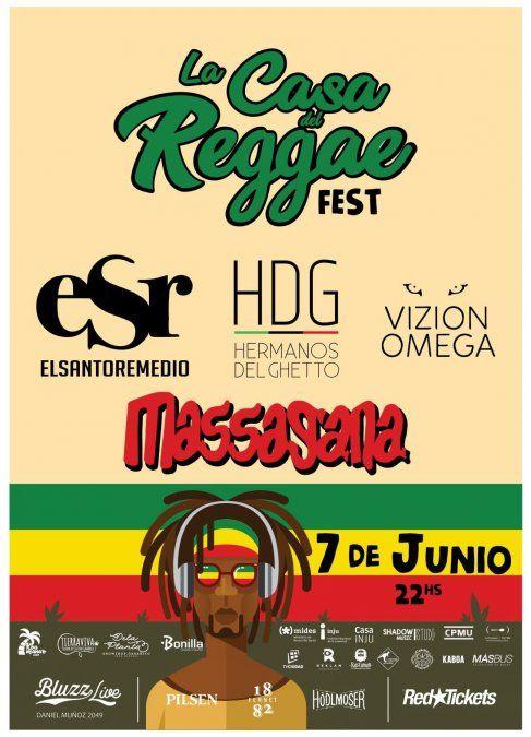 La Casa del Reggae Fest en Bluzz Live