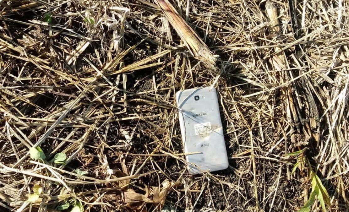 Teléfono celular de Micaela Onrrubio