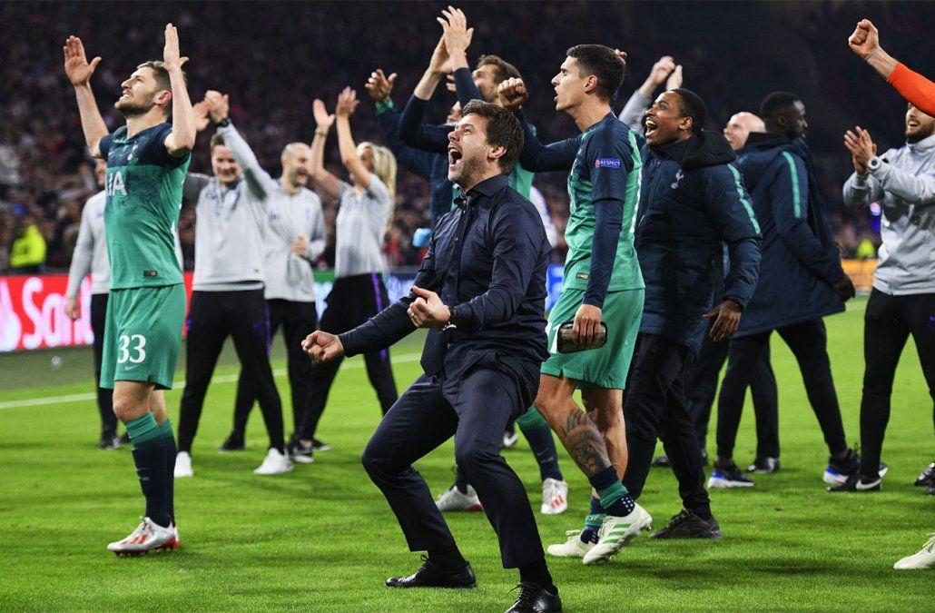 Hazaña del Tottenham ante Ajax con un gol en el último minuto de los descuentos