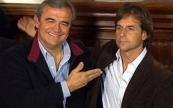 Jorge Larrañaga acababa de perder las internas en 2014 y presentaba a Lacalle Pou como el candidato presidencial de los blancos
