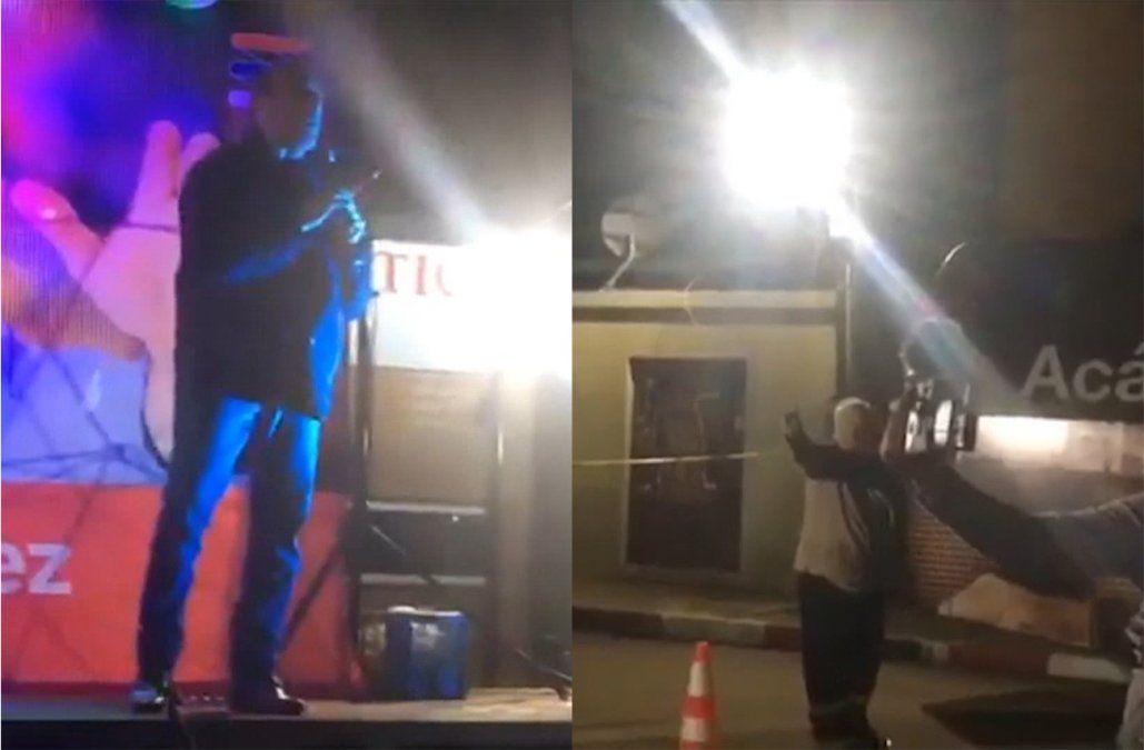 Martínez increpado en Bella Unión: le gritaron mentiroso durante un acto