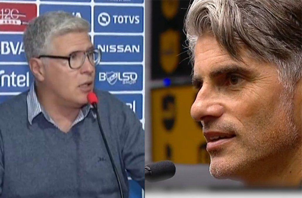 Los técnicos Diego López y Álvaro Gutiérrez se refirieron al partido clásico
