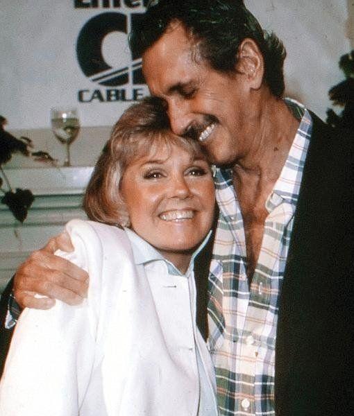 Dorys y Hudson cuando el actor ya estaba enfermo de Sida. Ella lo acompañó hasta el final