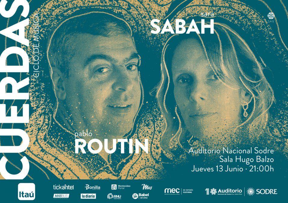 SaraSabah&Pablo Routin: encuentro íntimo entre público y artistas