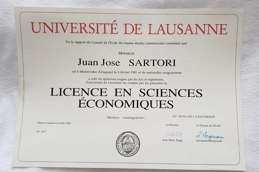 El pasaje de Juan Sartori por la Universidad de Harvard, un tema de agenda electoral