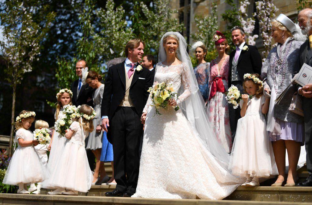 La familia real británica celebró este sábado otra boda en el Castillo de Windsor