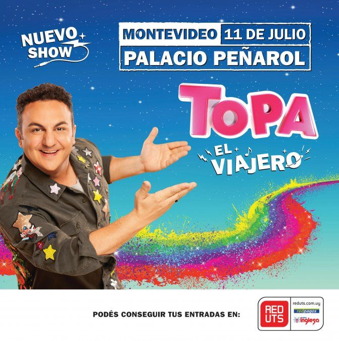 En julio llega el show de Topa al Palacio Peñarol