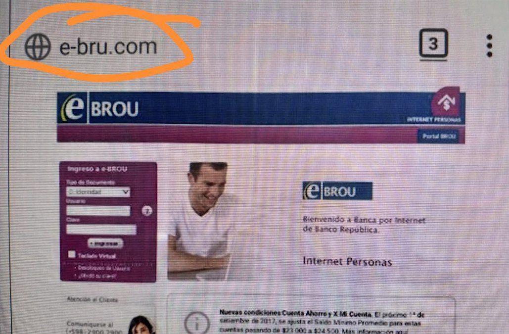 Alertan por página de e-BROU falsa y recomiendan a los usuarios a estar atentos
