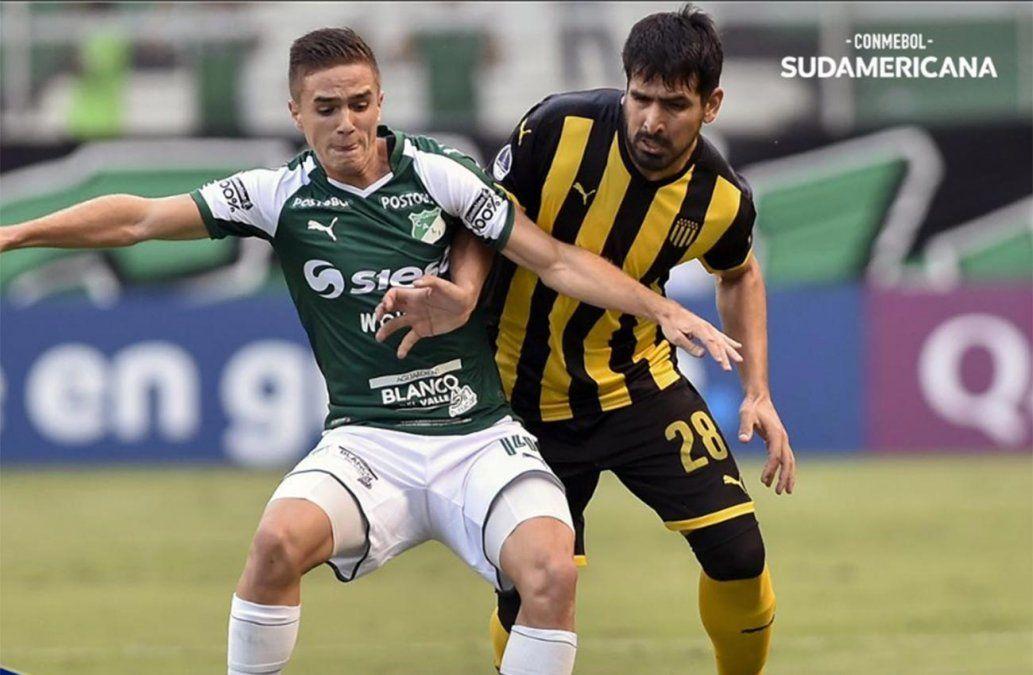Cali rescató un agónico 1-1 de local ante Peñarol por la Copa Sudamericana