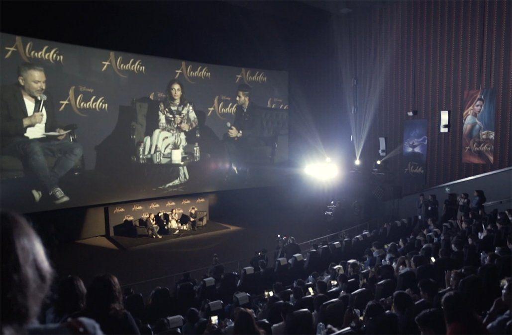 Subrayado en el lanzamiento internacional de Aladdin en Ciudad de México
