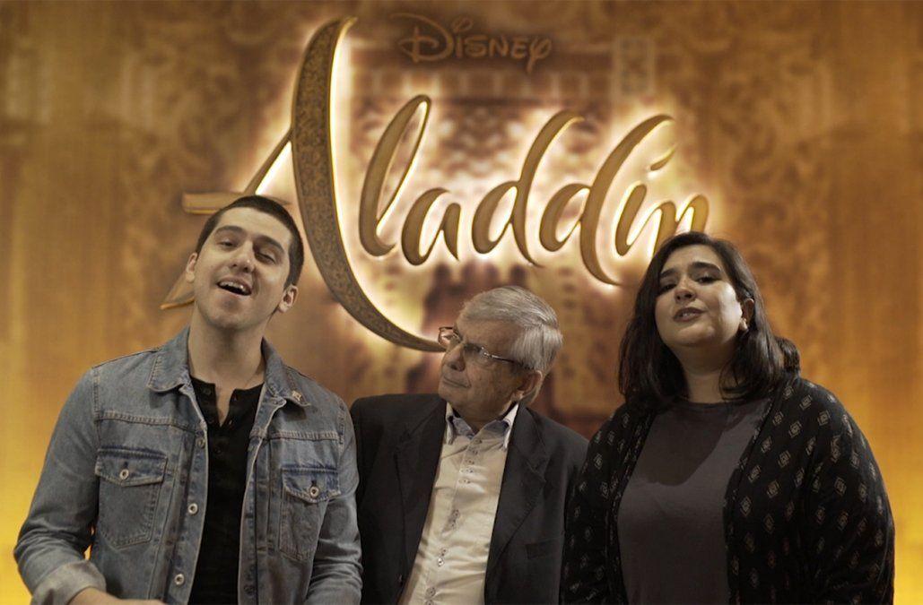 Jerry Velázquez y Annie Rojas, los actores que prestaron sus voces a Aladdin y Jasmine