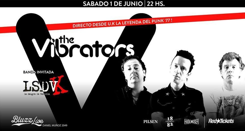 The Vibrators en Bluzz Live, en el marco de su gira latinoamericana