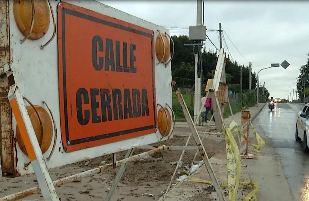 Obras inconclusas en San Martín complejizan la movilidad de los peatones