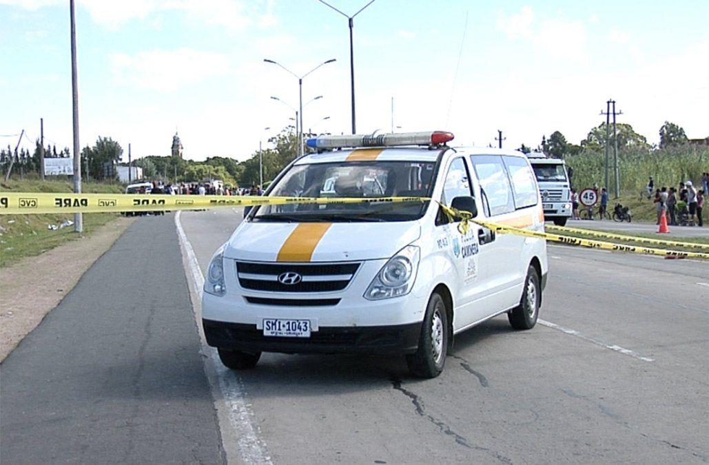 Choque entre un camión y una moto dejó un joven de 23 años muerto